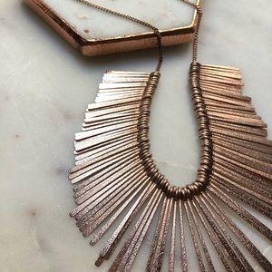 🆕Francesca's Rosegold Metal Sunburst Necklace